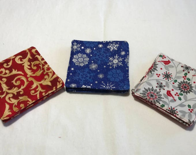 Christmas Coasters, Christmas Drink Coasters, Christmas Coaster Sets, Gift for Mailman, Office Party Gifts, White Elephant Gifts, Party Gift
