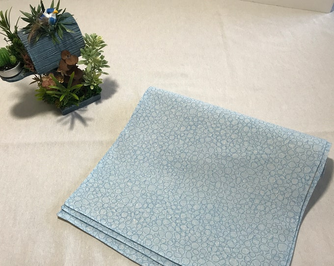 Blue Placemats, Blue Placemats Sets, Placemats Blue, Set of 6 Placemats, Gifts for Family, Housewarming Gifts, Wedding Gifts, Table Mats
