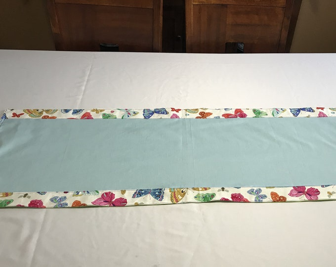 Blue Table Runner, Blue Table Linen, Table Runner Blue, Butterfly Decor, Housewarming Gifts, Dinner Table Set, Wedding Gifts, Gifts for Mom