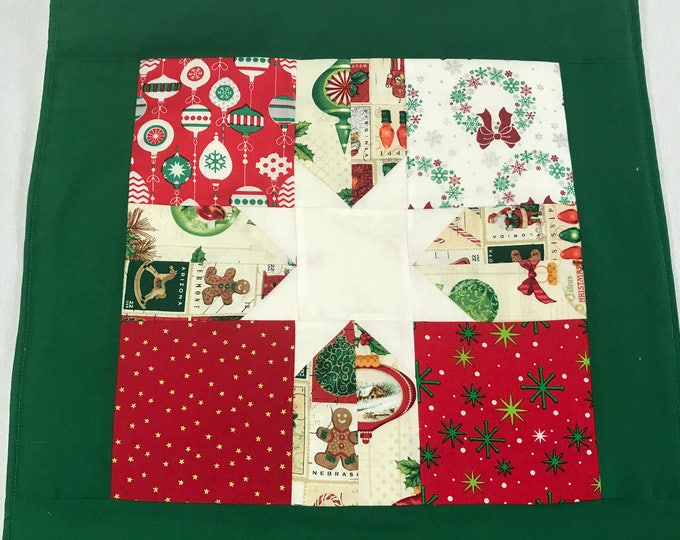 Christmas Table Mats, Christmas Placemats, Red Table Mats, Holiday Table Mats, Christmas Decor, Patchwork Placemats, Holiday Placemats