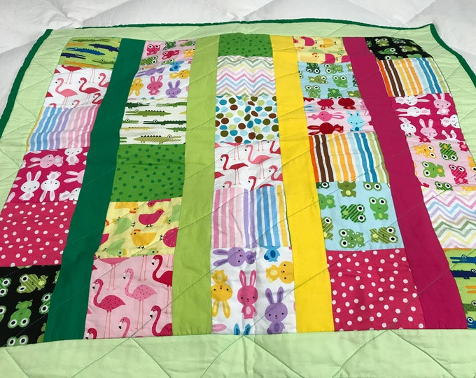 Baby Play Mat, Baby Play Quilt, Colorful Baby Play Mat, Gender Neutral Baby Gift, Gender Neutral Quilt,Baby Shower Gift,Gifts For Baby, OOAK