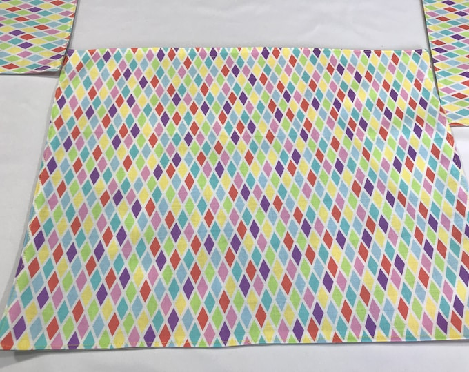 Geometric Placemats, Geometric Pattern, Geometric Table Decor, Pastel Placemats, Housewarming Gifts, Gifts for Mom, Unique Placemats,