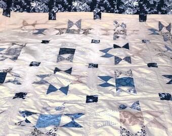 Queen Quilts, Queen Quilt Sets, Comforter, Country Quilts, Queen Bedding, Queen Bedspread, Country Cottage Decor, Patchwork Quilt, OOAK