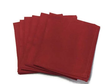 Cotton Napkins, Cloth Napkins Cotton, Cotton Dinner Napkins, Red Napkins, Table Napkins, Reusable Napkins, Fabric Napkins, Custom Napkins