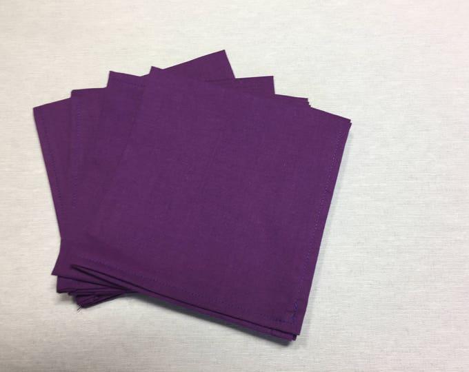 Purple Napkins, Purple Cloth Napkins, Napkins Purple, Cloth Napkins, Luncheon Napkins, Reusable Napkins, Lunch Napkins, Fabric Napkins