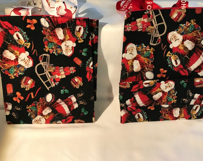 Reusable Christmas Gift Bags, Fabric Christmas bags,  Reusable gift bag, Fabric Gift Bags, Reusable Bags, Christmas Gift Bags, Fun Gift Bags