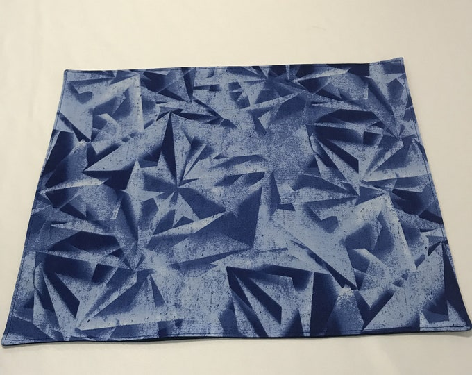 Modern Placemats, Modern Table Decor, Modern Table Mats, Blue Placemats, Geometric Placemats,Housewarming Gifts,Gifts for Mom, Birthday Gift
