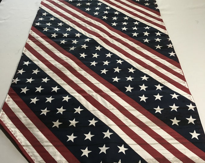 Red White and Blue Table Runner, Americana Decor, Red and White Table Runner, Patriotic Table Runner, Red White Blue Runner, Patriotic Gifts