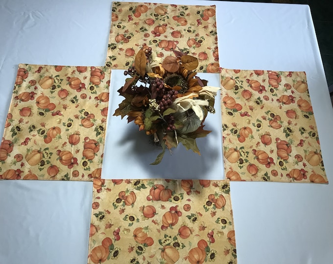 Fall Placemats, Fall Table Mats, Fall Decor, Pumpkin Placemats, Autumn Decor, Thanksgiving Placemats, Housewarming Gift, Reversible Mats