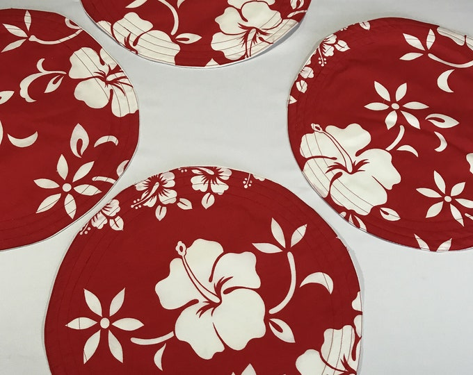 Round Placemat Set, Round Table Mats, Set of 4 Placemats, Round Placemats, Round Table Placemats, Floral Placemats, Housewarming Gifts