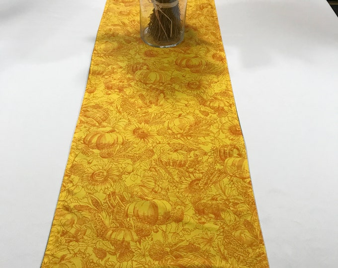 Yellow Table Runner, Yellow Dining Runner, Yellow Table Topper, Yellow Fall Decor, Kitchen Table Runner, Coffee Table Runner, Yellow Orange