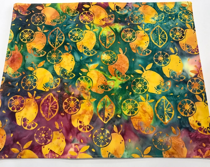 Yellow Placemats, Yellow Table Decor, Yellow Kitchen Mats, Set of 4 Placemats, Modern Placemats, Life gives you Lemons, Newlywed Gifts