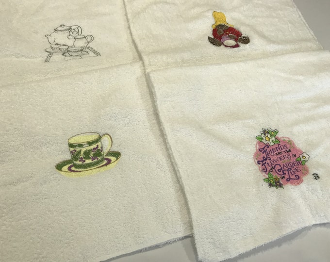 Dish Towels, Embroidered Dish Towels, Terry Cloth Towels, Dish Towel Embroidered, Kitchen Towels, Bar Towels, Hand Towels, Housewarming Gift