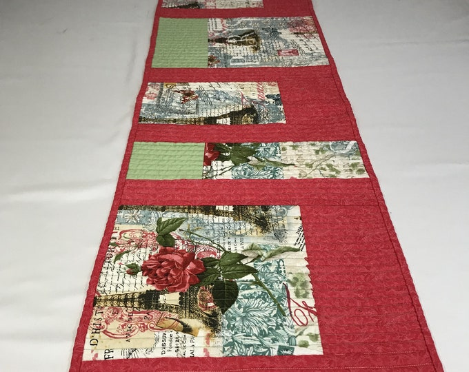 Summer Table Runner, Summer Travel, Quilted Table Runner, Table Runner Summer, Gifts for Travelers, Housewarming Gifts, Gifts for Family