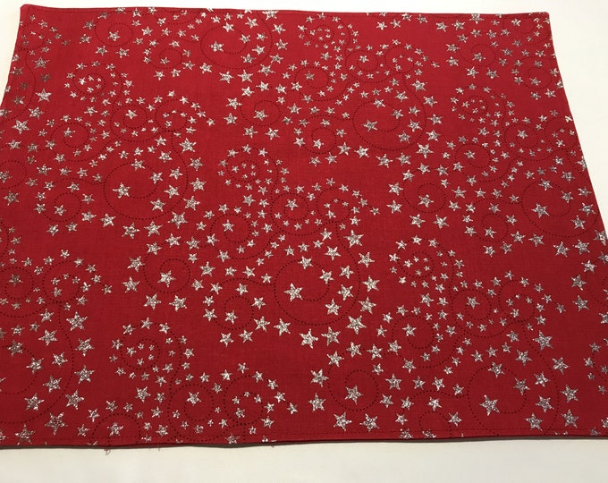 Red Placemats, Red and Silver Decor, Red Table Decor, Patriotic Placemats, Reversible Placemats, Gifts for Veterans, Gifts for Military