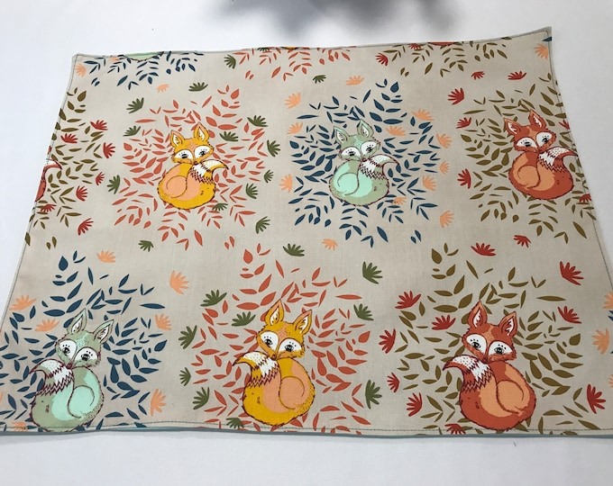 Woodland Table Decor, Woodland Creatures Decor, Woodland Animals, Fox Table Decor, Nature Lovers Gifts, Fox Placemats, Gifts for Friends