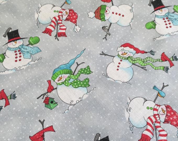 Fabric Centerpiece, Winter Centerpiece, Snowman Fabric, Fabric Table Runner, Fabric Table Centerpiece, Winter Decor, Christmas Table Runner