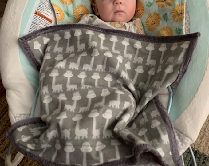 Car Seat Blanket, Baby Blanket, Car Seat Cover, Bouncy Seat Blanket, Minky Car Seat Blanket, Stroller Blanket, Doll Blanket, Small Blanket