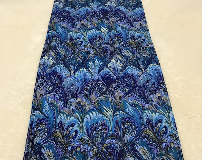Peacock Decor, Peacock Feather Decor, Blue Peacock Decor, Peacock Table Runner,Reversible Table Runner,Purple Table Runner,Housewarming Gift