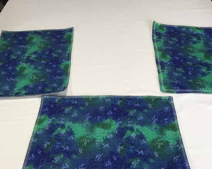 Cotton Placemats, Green Placemats, Cotton Mats, Placemats Cotton, Set of 6 Placemats, Summer Placemats, Housewarming Gifts, Wedding Gifts