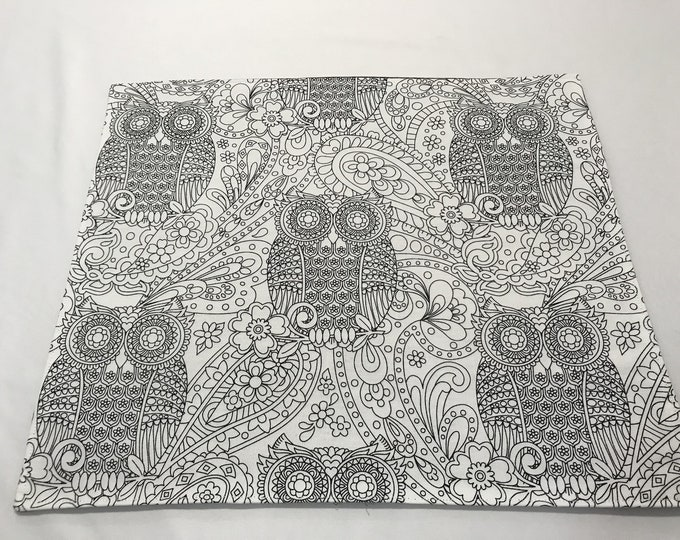 Owl Placemats, Owl Table Mats, Owl Table Decor, Color Me Fabric, Custom Placemats, Creative Placemats, Birthday Gift Her Him, Party Favor