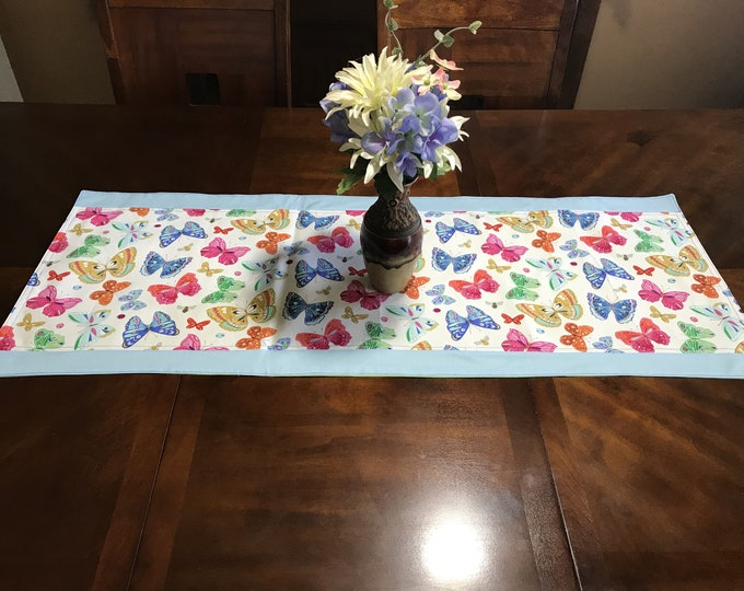 Dinner Table Decor, Dinner Table Runner, Dinner Table Set, Butterfly Decor, Colorful Table Decor, Butterfly Table Runner, Housewarming Gift