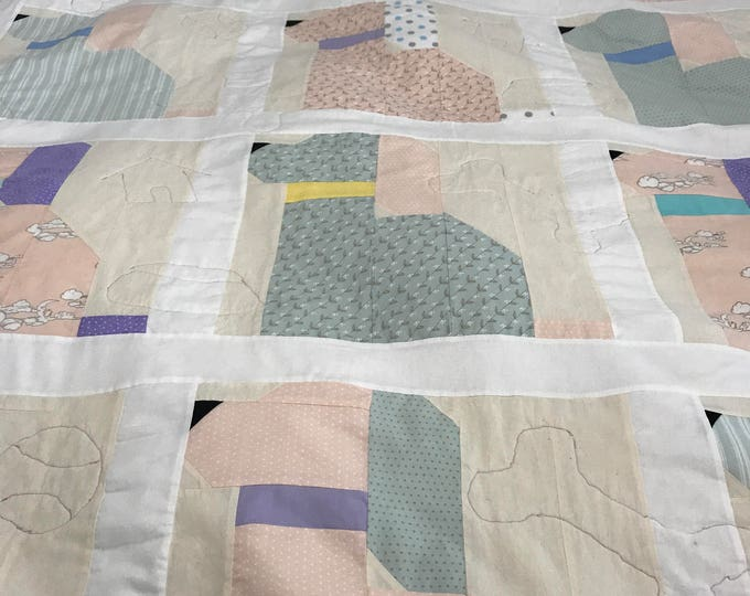 Puppy Quilt, Puppy Dog Quilt, Kids Puppy Quilt, Childs Blanket, Toddler Minky Blanket, Gender Neutral Quilt, Childs Birthday Gift, Baby Gift