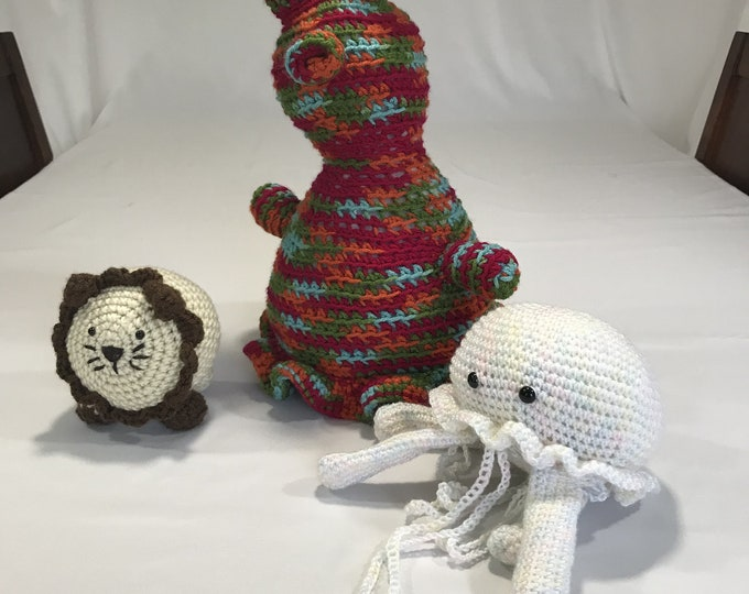 Crochet Animals, Crochet Animal Toy, Crochet Items, Crochet Bunny Lovey, Crochet Lion Stuffed Animal, Toddler Birthday Gift, Gift for Baby,