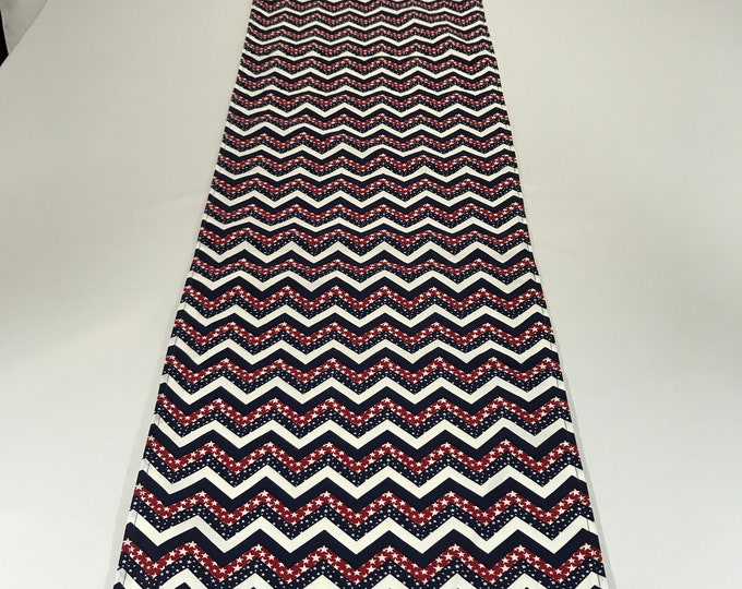 Patriotic Runner, Patriotic Table Runner, Chevron Runner, Patriotic Gifts, Red White Blue Runner, Americana Decor, Gifts for Veterans