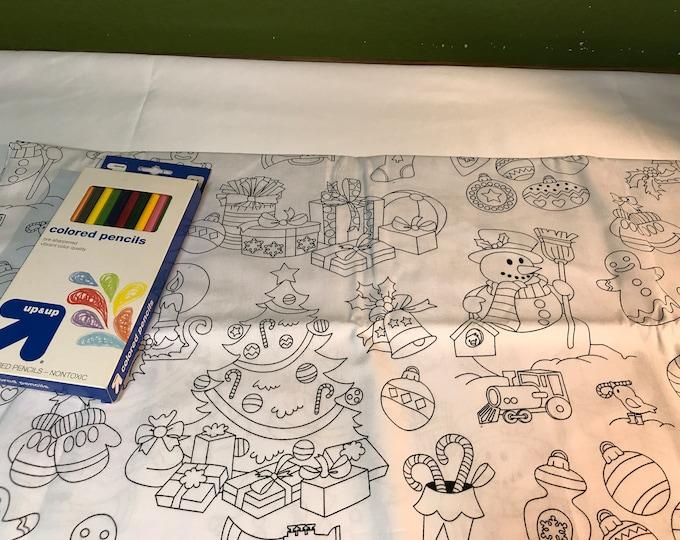 Kids Party Placemats, Kids Party Mats, Kids Christmas Placemats, Christmas Party Activity, Creative Placemats, Christmas Crafts, Kids Fun