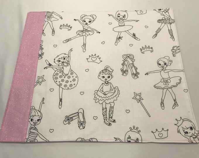 Girls Placemats, Personalized Placemats, Placemats Girls, Girls Coloring Activity, Color Me Fabric, Gifts for GIrls, OOAK Gift, Teen Gifts