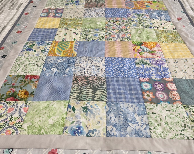 Patchwork Throw Quilt, Custom Patchwork Quilt, Patchwork Quilt, Throw Blanket, Large Baby Blanket, Sofa Throw, Baby Shower Gift,Toddler Gift