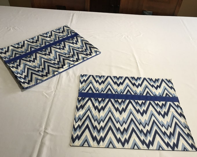 Blue Placemats,Blue and White Placemats, Set of 6 Placemats, Bue Table Decor, Dining Table Placemats, Housewarming GIft, Gift for Newlyweds,