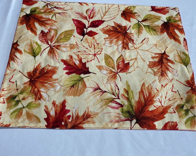 Fall Leaves Decor, Falling Leaves, Fall Table Decor,Fall Colors,Autumn Table Decor, Red Fall Leaves, Fall Placemats, Fall Table Linens,