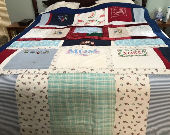 Keepsake Quilt, Memory Quilt, Keepsake Blanket, Remembrance Gifts, Gifts for Loved Ones, Memory Keepsake, Memorial Quilt, Upcycled Quilt