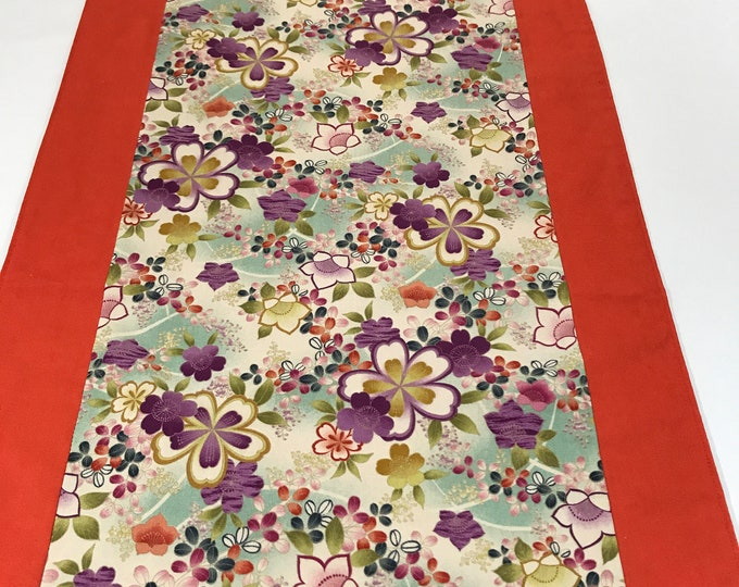 Floral Table Runner, Floral Table Topper, Table Runner Floral, Colorful Table Runner, Birthday Gift Her, Housewarming Gifts, Wedding Gifts