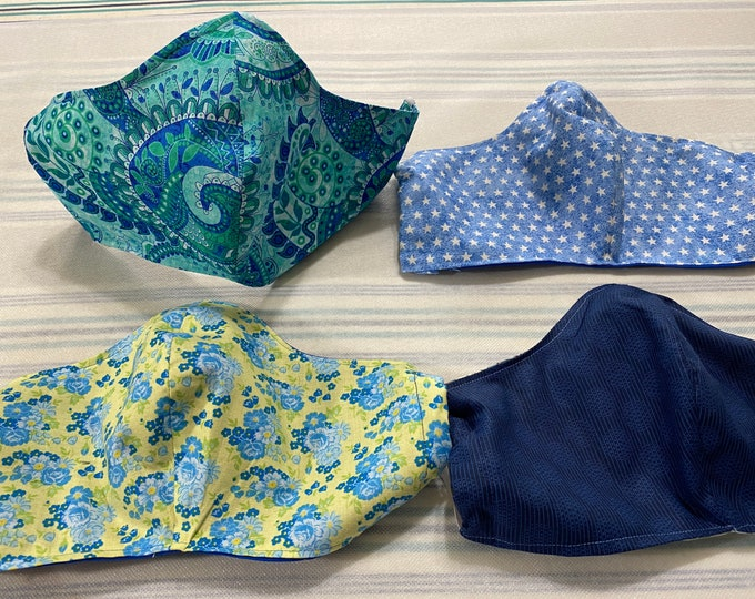 Fabric Face Mask, Fabric Face Mask Washable, Face Mask with Filter Pocket, Cotton Face Mask