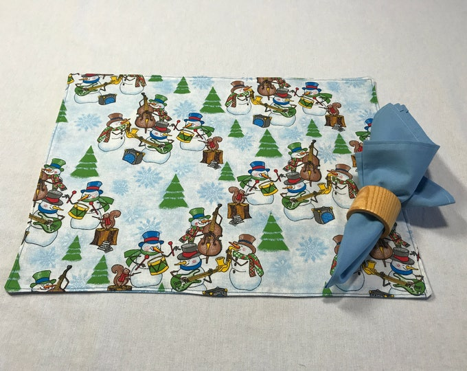 Holiday Placemats, Holiday Table Decor, Winter Holiday Decor, Christmas Placemats, Snowman Placemats, Kids Placemats, Gifts for Family