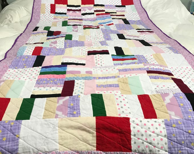 Lap Quilt, Lap Throw, Lap Throw Quilt, Quilted Lap Throw,  Sofa Throw, Patchwork Quilt, Gift for Her, Gift for Him, OOAK Quilt, Toddler Gift