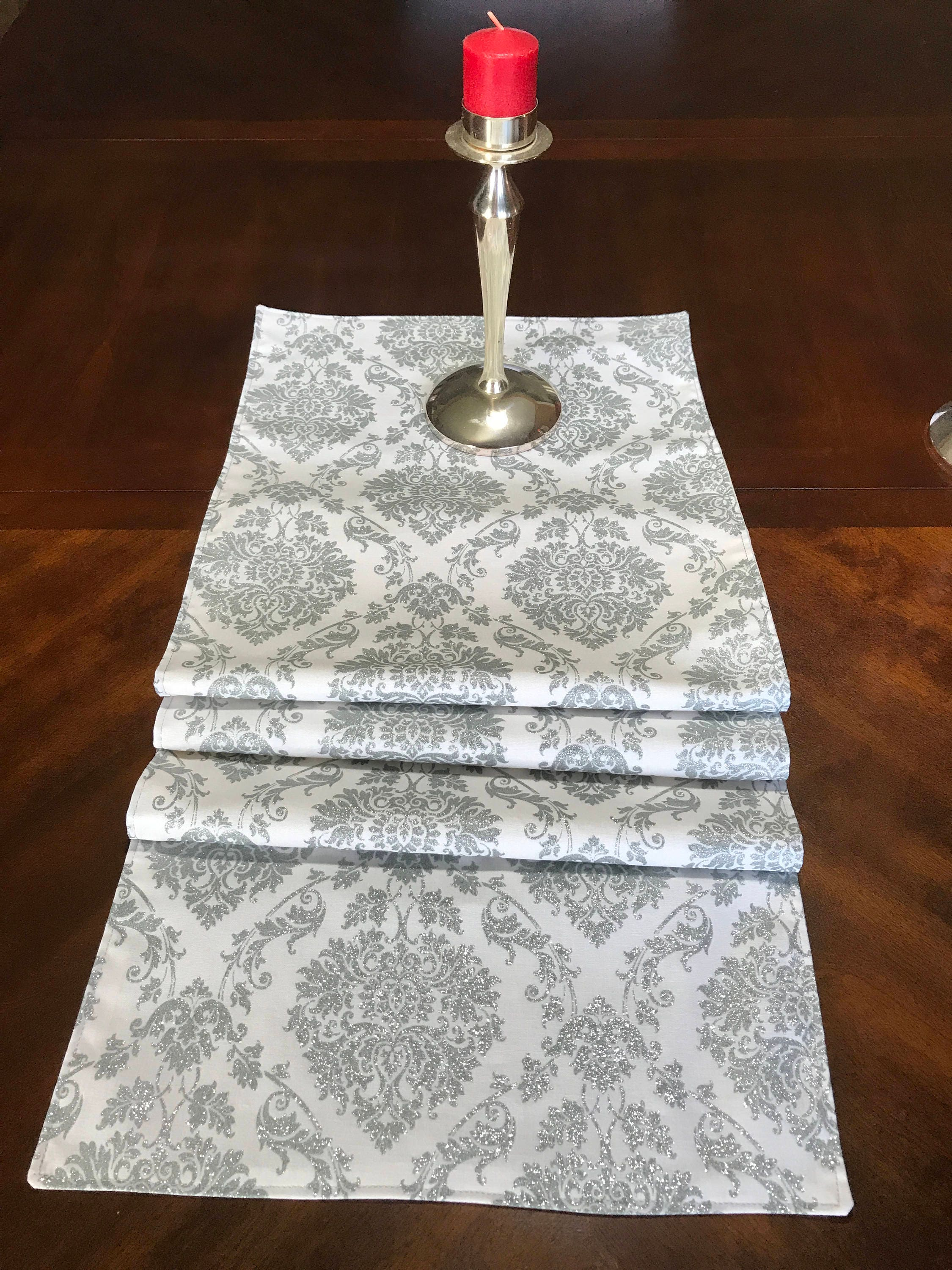 ... Silver Glitter Table Runner, Holiday Runner. Gallery Photo Gallery  Photo ...