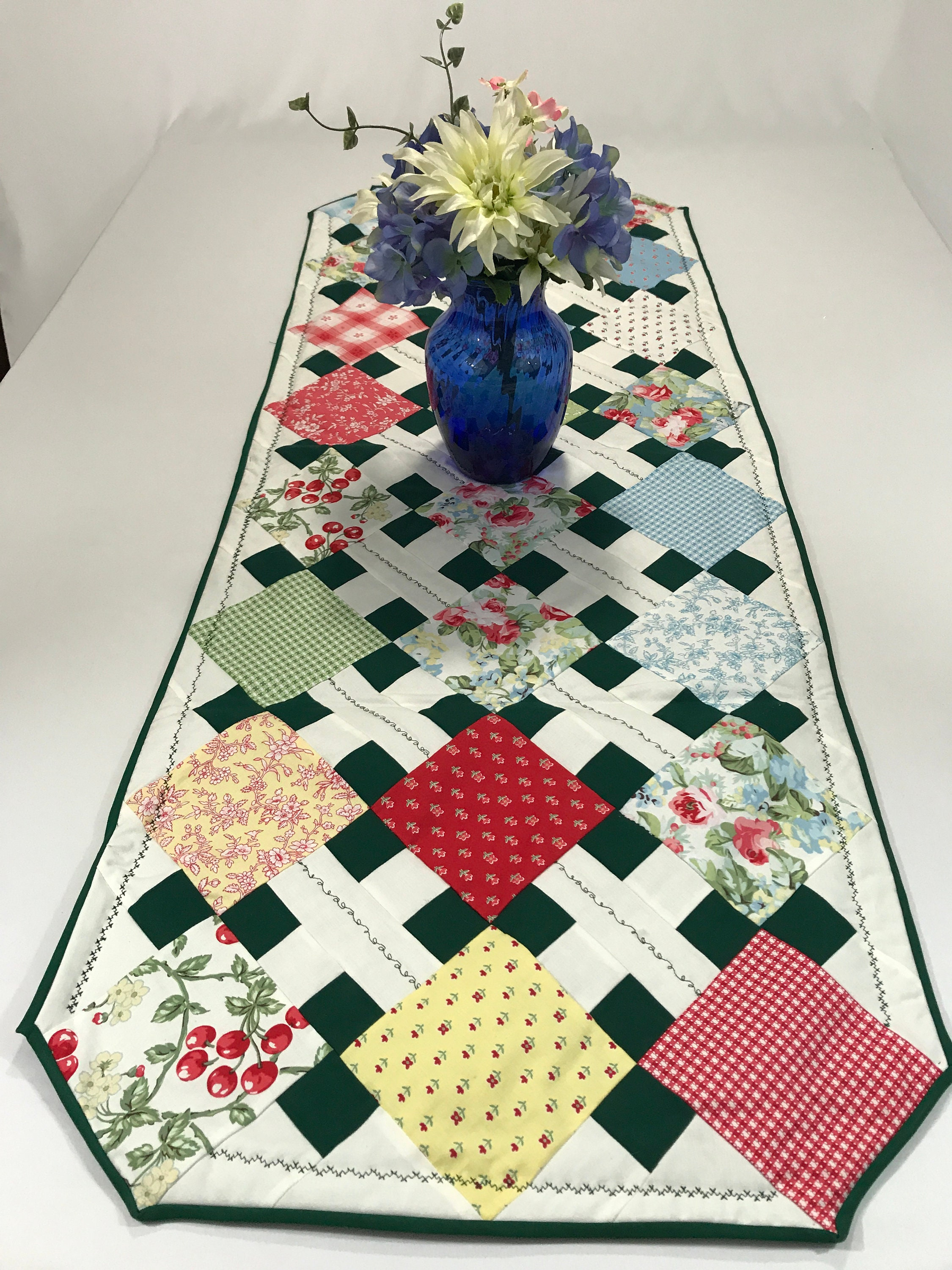 Floral Table Runner Table Runner Floral Patchwork Table Runner
