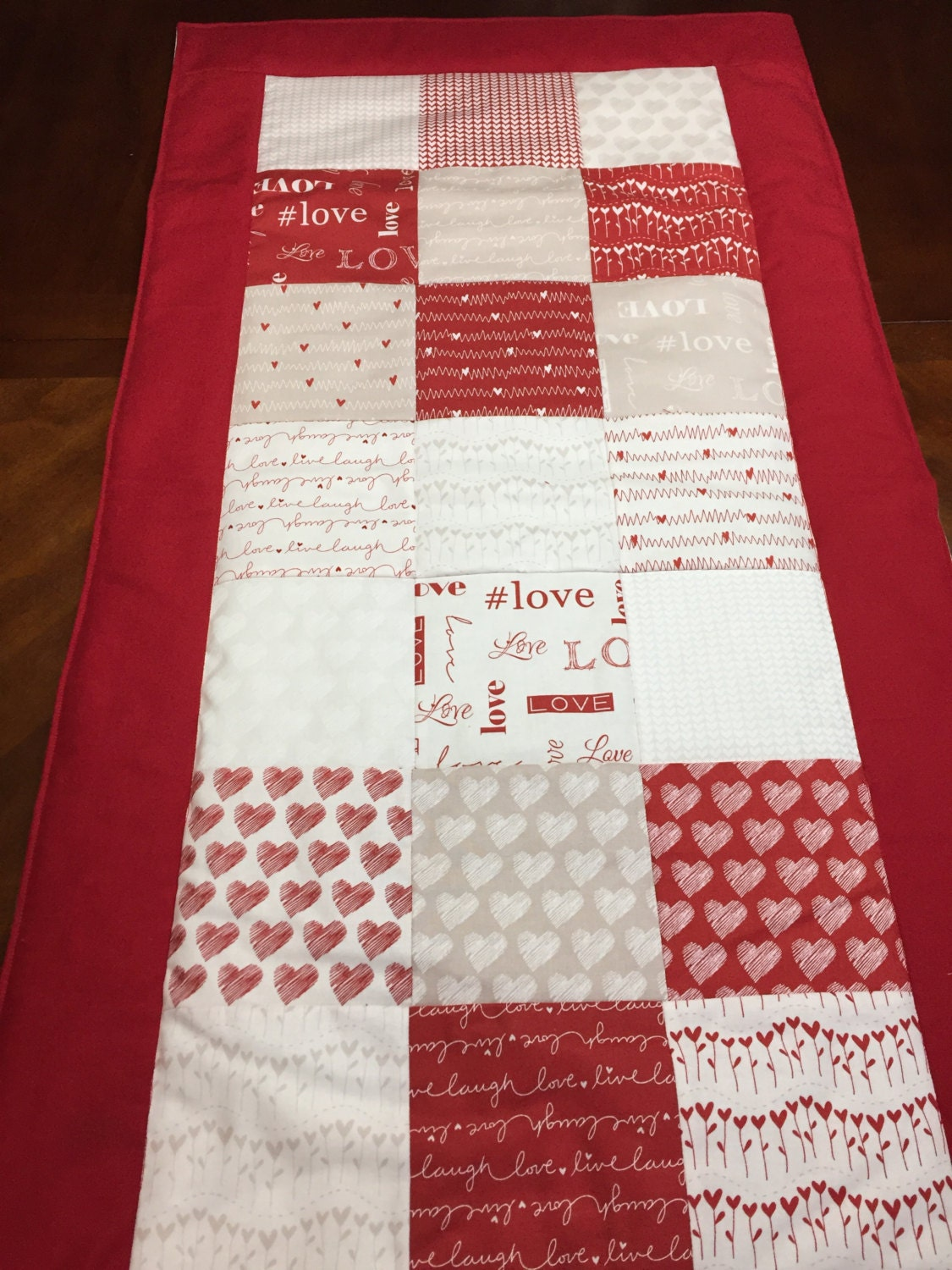 Valentines Day Table Runner Valentine S Day Decor Red Table Runner