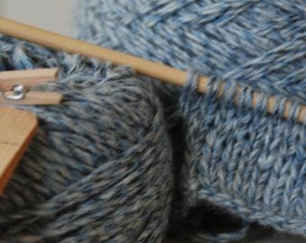 Heather yarn 100% cashmere blue jeans