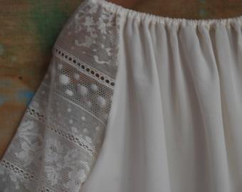 Ivory Stole Chiffon silk Bridal Wedding Handmade  Etole de mari\u00e9e en mousseline de soie