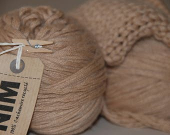 9 threads nude beige 100% Cashmere Wool