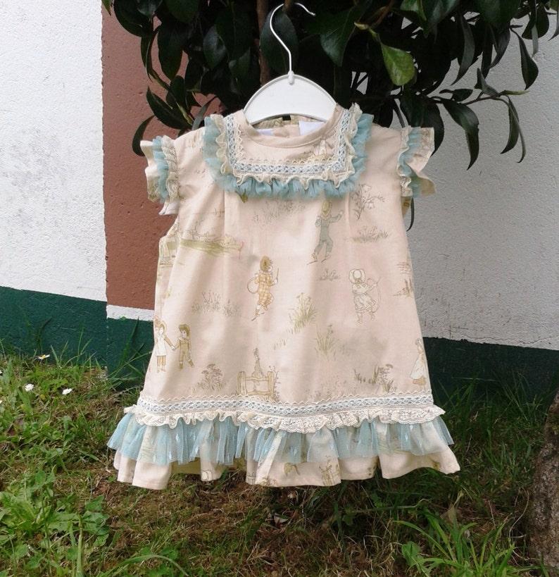 8f05e0395 Vestido niña rosa palo tul y puntilla ropa bebé rosa palo