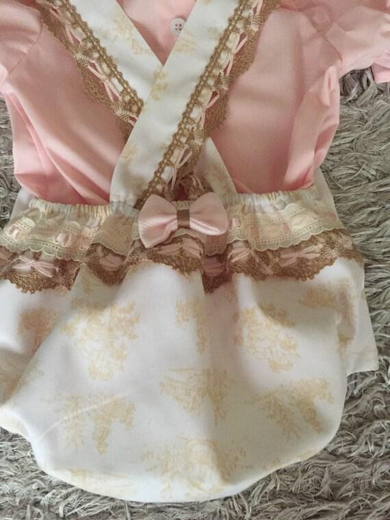 79bbf1fc2f57 baby girl white romper pink shirt toddler romper pink white