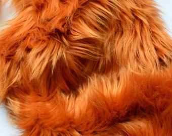 Amber Fur Fabric  Fox Costume Fur Craft Squares ae543fad93e5b