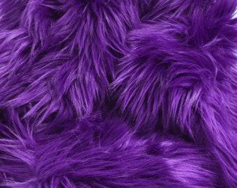 Purple Faux Fur Fabric Craft Squares, Purple Fur Fabric, Purple Faux Fur Fabric, Purple Fur, Purple Fake Fur, Royal Purple Faux Fur