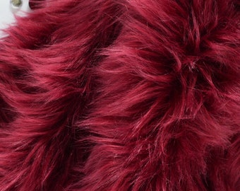 Burgundy Fur Fabric Craft Squares- Dark Red Faux Fur 775907dc1b1db